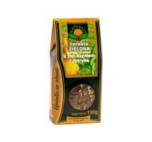 Herbata zielona z żeńszeniem i cytryną
