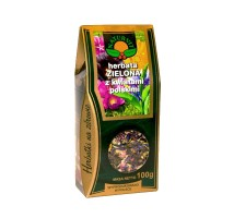 Herbata zielona z kwiatami polskimi