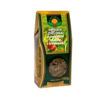 Herbata zielona z malinami i truskawkami