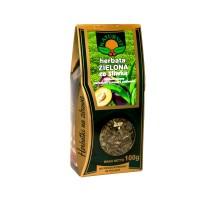 Herbata zielona ze śliwka lisciem jeżyny, porzeczki czarnej i poziomki