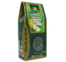 Herbata zielona z gruszka melisa i skrzypem - Natura Wita