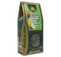 Herbata zielona z owocem pigwy i kwiatem krokosza - Natura Wita