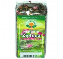 Herbata zielona z płatkami róży - Natura Wita